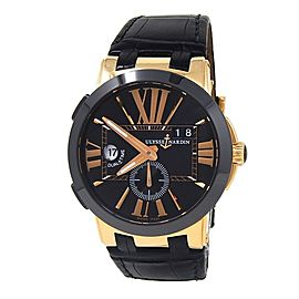 Ulysse Nardin Executive Dual Time 18k Rose Gold Automatic Men Watch 246-00-3/42