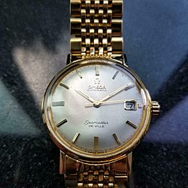 Men's Omega Gold-Plated Seamaster DeVille Automatic w/Date, c.1960s Vintage MA55
