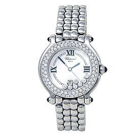 Chopard Happy Sport Stainless Steel Diamonds Quartz Ladies Watch 278291-2005
