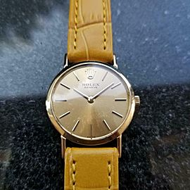Ladies Rolex Cellini 18k Solid Gold ref.3600 Manual Wind, c.1970s Swiss LV976YEL