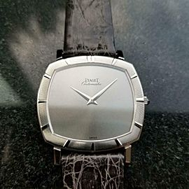 Men's Piaget 18K White Gold Ultra-Thin ref.12423 Automatic 1960s Swiss MS208GRY