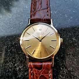 Ladies Rolex 18k Gold Cellini 3600 Manual-Wind Dress Watch, c.1970s Swiss LV976