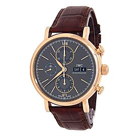 IWC Portofino Chronograph 18k Rose Gold Automatic Grey Men's Watch IW391021