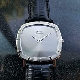 Men's Piaget 18k White Gold cal.12P1 Automatic Dress Watch c.1970s Swiss LV861
