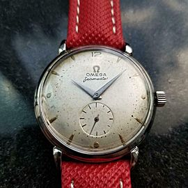 Men's Omega Seamaster Bumper Automatic ref.2398-5, c.1947 Vintage Swiss LV737RED