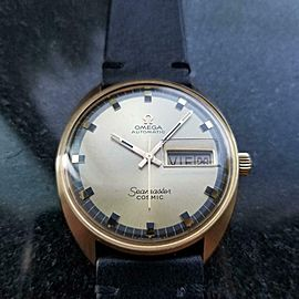 Men's Omega 18k Gold Seamaster Cosmic Day Date Automatic c.1968 Vintage LV653BLK