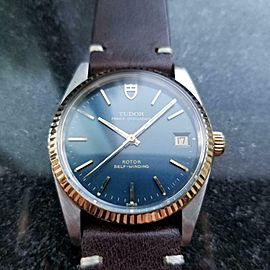 Men's Tudor Prince Oysterdate 74033 Automatic 14k Gold & SS, 1992 Swiss LV714BRN