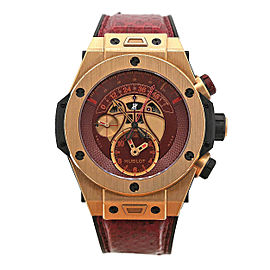 Men's Hublot Big Bang Unico 45.5mm 18k rose gold, Red dial, 413.OX.4738.PR.KOB15