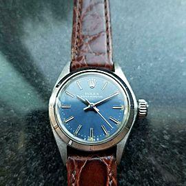 Ladies Rolex Oyster Perpetual ref.6723 Automatic Blue Dial c.1973 Swiss MA134BLU