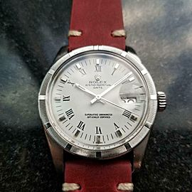 Men's Rolex Oyster Perpetual ref.1501 Automatic w/Date, c.1979 Vintage MS129RED