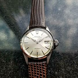 Ladies Rolex Oyster Perpetual 6516 Automatic w/Date c.1961 Swiss Luxury MS155BRN