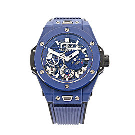 Men's Hublot Big Bang MECA-10 45, Ceramic Blue, Matte Blue Dial, 414.EX.5123.RX