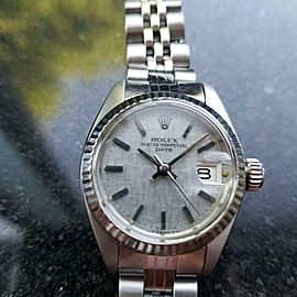 Rolex 18K & SS 6917 Lady Datejust automatic c.1978 Vintage Swiss Luxury MS167