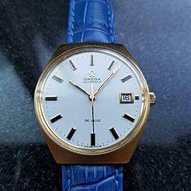 Men's Omega Vintage Gold-Capped DeVille Date Automatic, c.1970s Swiss AL16BLU