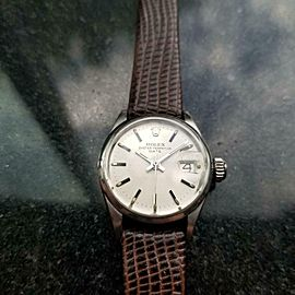 Ladies Rolex Oyster Perpetual Date 6516 Automatic, c.1971 Swiss Luxury LV845BRN