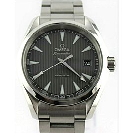 OMEGA SEAMASTER AQUA TERRA 231.10.39.60.06.001 GRAY QUARTZ MENS LUXURY WATCH