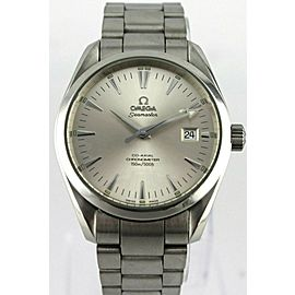 OMEGA SEAMASTER AQUA TERRA 2517.30 SILVER SWISS QUARTZ MENS LUXURY STEEL WATCH