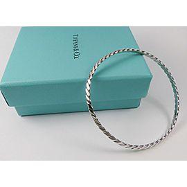 Vintage Tiffany & Co. Twist Braided Knife Edge Bangle Sterling Silver