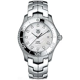 TAG HEUER MENS LINK WJ1114.BA0575 MOTHER OF PEARL DIAMOND STEEL QUARTZ WATCH