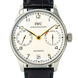Iwc Portuguese IW500114 Steel 42.0mm Watch