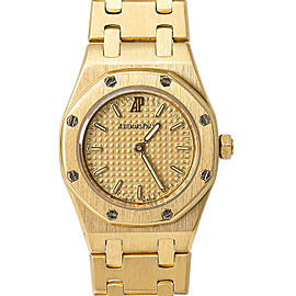 Audemars Piguet Royal Oak 67075BA. Gold 20mm Women's Watch