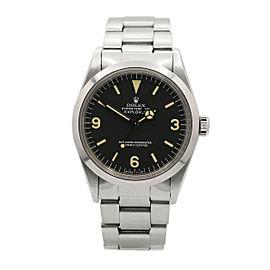 Men's Vintage Rolex Explorer 36mm, Stainless Steel, Black dial, 1016