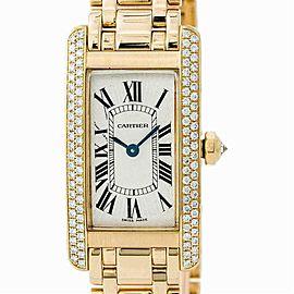 Cartier Tank Americaine WB7043JQ Gold 19.0mm Women's Watch