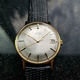 Men's Omega Gold-Capped 162.009 Date Automatic, c.1963 Pre-owned Vintage MX30BLK
