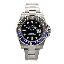 Men's Rolex GMT Master II, Batman, 40mm, Stainless Steel, Black Dial, 116710BLNR