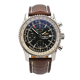 Men's Breitling Navitimer World 46mm Stainless Steel, Black Dial, A24322