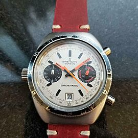 Men's Breitling Chrono-Matic 2112 Automatic Chronograph, c.1970s Swiss MX82RED
