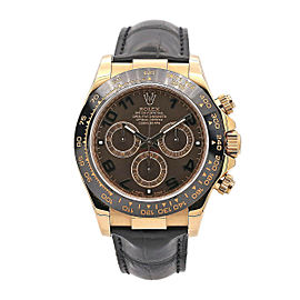 Men's Rolex Cosmograph Daytona 40mm, 18k Rose Gold, Chocolate Dial, 116515LN