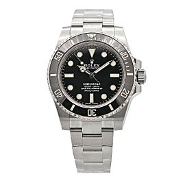 Men's Rolex Submariner No Date, 40mm, Stainless Steel, Black Dial, 114060