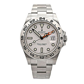 Men's Rolex Explorer II, 42mm, Stainless Steel, White Dial, 216570