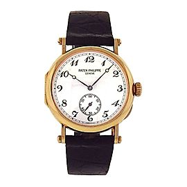 Patek Philippe Calatrava Officers 18K Yellow Gold Manual Wind Men's Watch 3960J