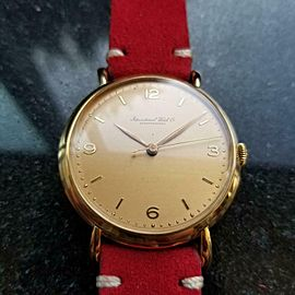 Men's IWC Schaffhausen 18K Gold cal.89 Manual-Wind Dress Watch c.1950s LV539RED