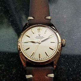 Men's Rolex 18K Gold Chronometer Perpetual ref.6085, c.1963 Vintage LV821BRN