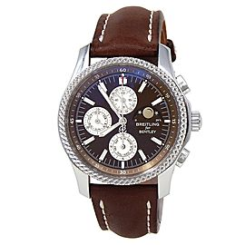 Breitling Bentley Mark VI Stainless Steel Chronograph Brown Men's Watch P19362