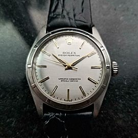 Men's Rolex Oyster Perpetual Ref.6107 34mm Bubble Back Automatic, c.1960s LV903