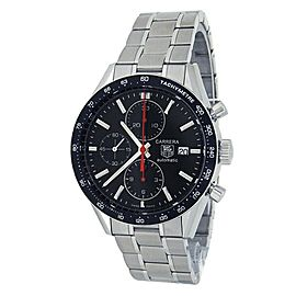 Tag Heuer Carrera Stainless Steel Chronograph Black Men's Watch CV2014.BA0794