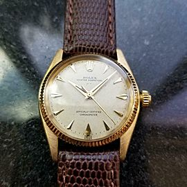 Men's Rolex Oyster Perpetual ref.6551 30mm 18k Gold Automatic, c.1950s LV879BRN
