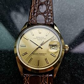 Men's Rolex Oyster Date ref.1550 34mm Automatic Gold-Capped, c.1970s LV905BRN