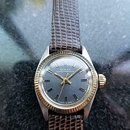 Ladies Rolex Oyster Perpetual Ref.6619 25mm Automatic 18k & ss, c.1970s LV707BRN