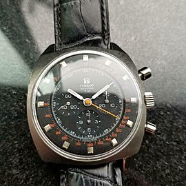 Men's Tissot Seastar T.12 Hand-Wind Chronograph 40506 c.1970s Swiss Vintage MX90