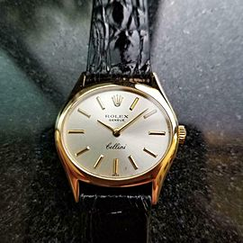 Ladies Rolex Cellini Geneve Ref.3802 27mm 18k Gold Manual-Wind, c.1970s LV873BLK