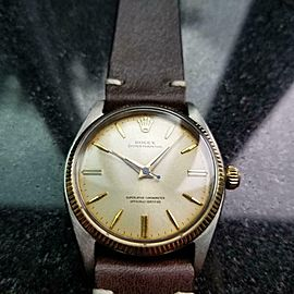 Men's Rolex Oyster Perpetual ref.6567 34mm 14k Gold & ss Automatic c.1950s LV907