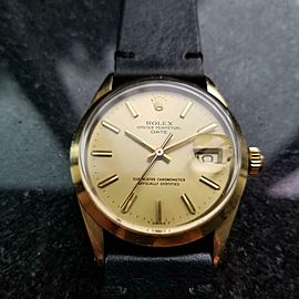 Men's Rolex Oyster Date ref.1550 34mm Automatic Gold-Capped, c.1970s LV905