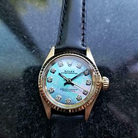 Ladies Rolex Oyster Ref.6619 25mm 18k Gold Automatic MOP Dial, c.1960s LV860