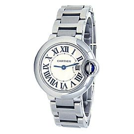 Cartier Ballon Bleu Stainless Steel Quartz Silver Ladies Watch W69010Z4