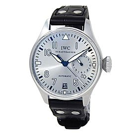 IWC Big Pilot's Father Stainless Steel Leather Auto Silver Men's Watch IW500906